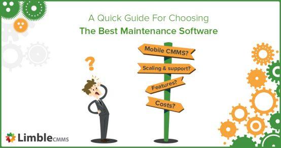 Choose best maintenance software