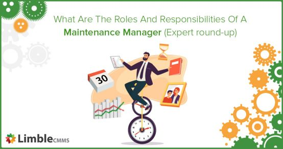 Maintenance manager job description