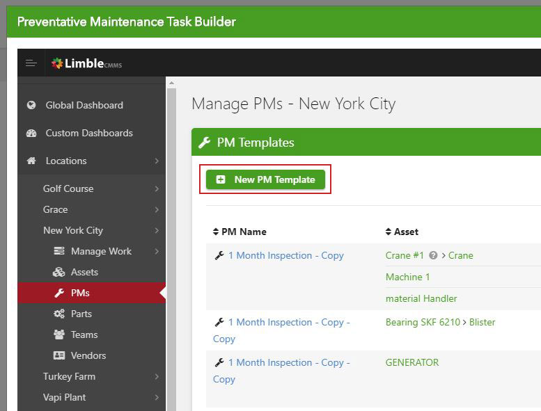 Managing PM checklists with Limble