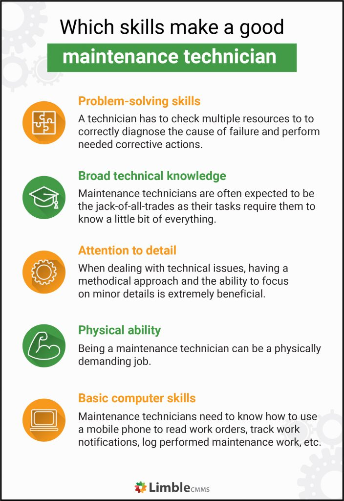 what skills do you need to be a maintenance technician