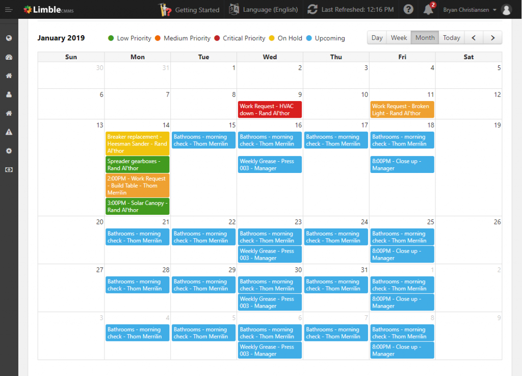 Preventative Maintenance Scheduling