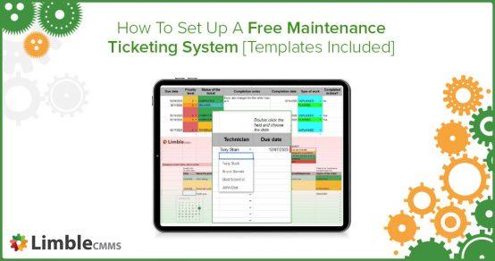 free maintenance ticketing system