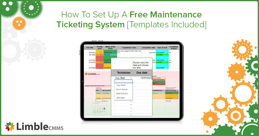 free maintenance ticketing system