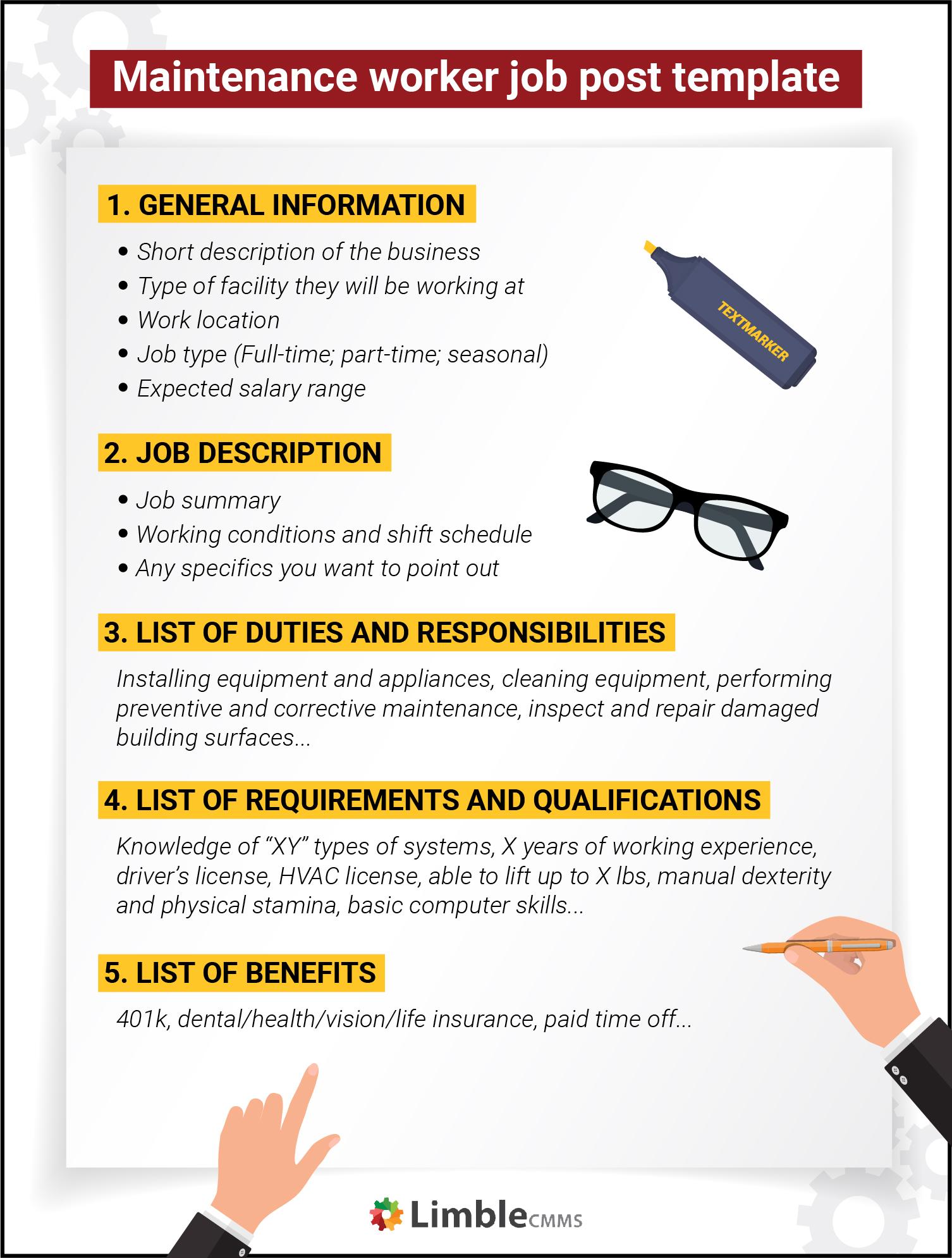 general maintenance worker job description template