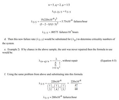 FMECA equations example