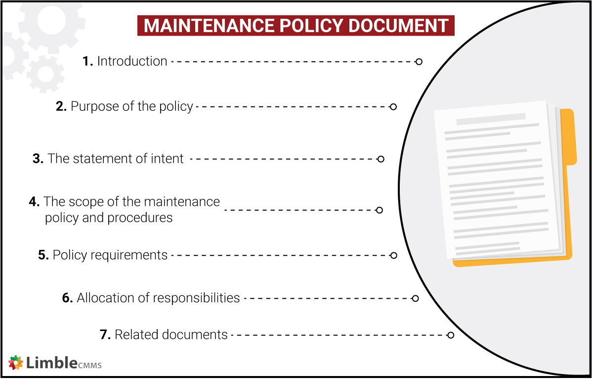 Maintenance policy document