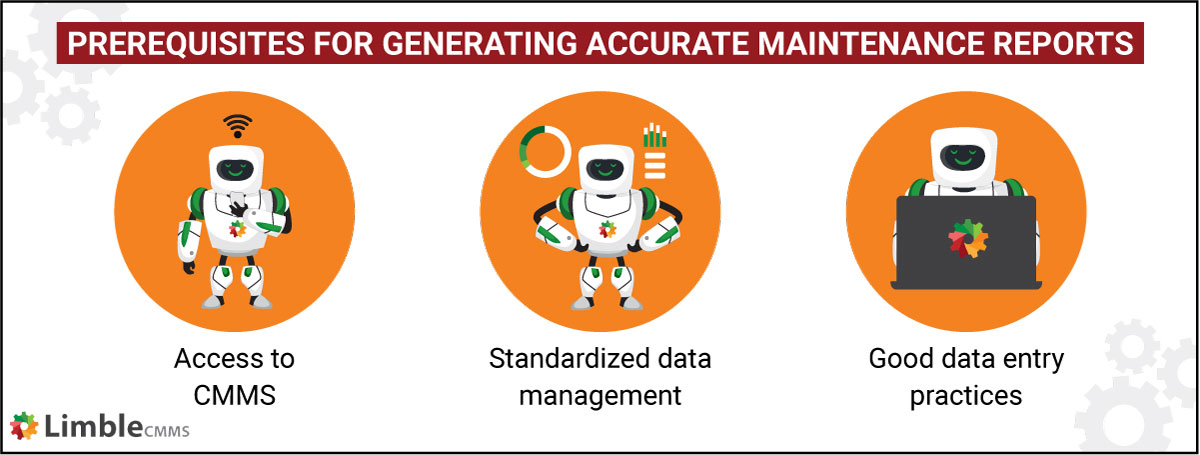 generating accurate maintenance reports
