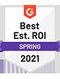G2 - Best Est. ROI 2021