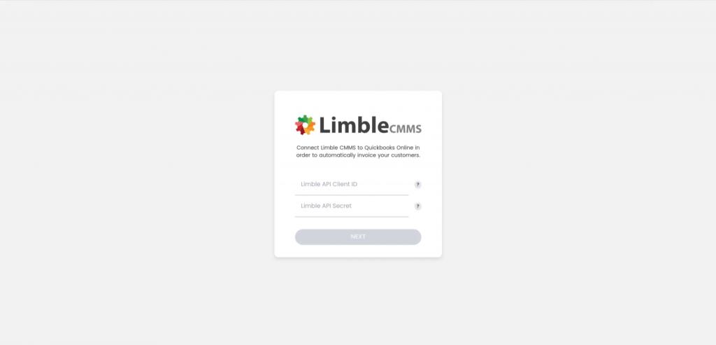 Limble Quickbooks Setup
